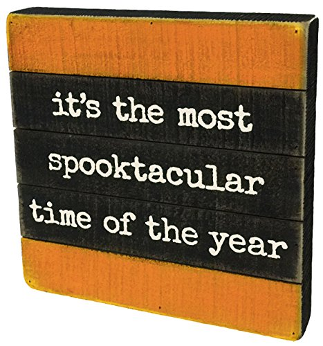 Primitives by Kathy Halloween Decor - Most Spooktacular Time of the Year Slat Pallet Sign