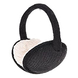ZLYC Womens Girls Winter Warm Adjustable Knitted Ear Warmers Foldable Earmuffs