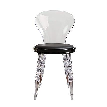 MMZZ Sedia da Pranzo in plastica Trasparente nordica, Sedia Design ...