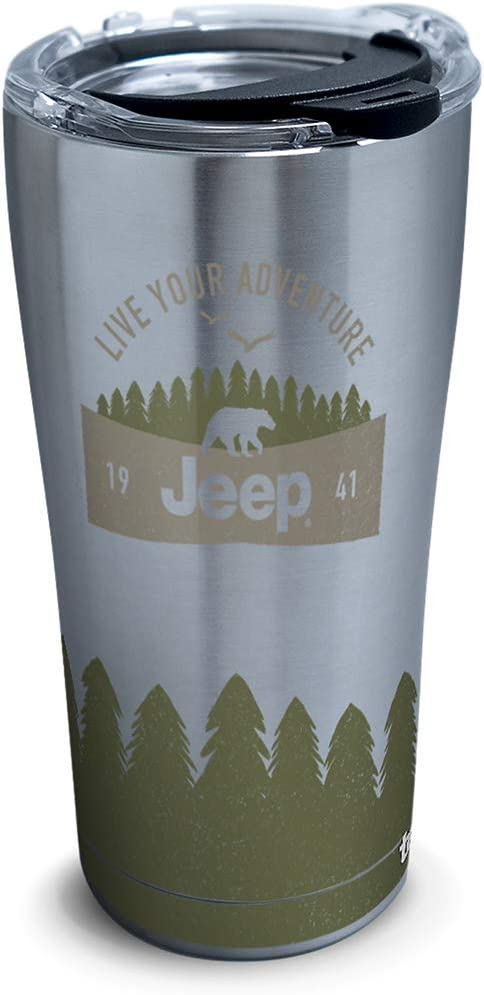 Tervis Jeep Insulated Tumbler, 20oz - Stainless Steel, Live Your Adventure