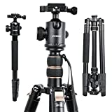 64'' Dslr Camera Tripod, Lightweight Portable And Tall Projector Stand With 360°Panorama Ball