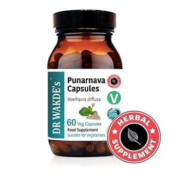DR WAKDES® Punarnava cápsulas (Boerhavia diffusa) I 100% Natural I 60 cápsulas