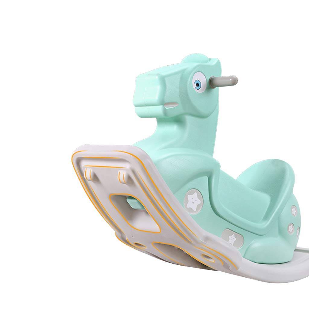 Children's Rocking Horse Toy Baby Trojan Baby Rocking Horse Large Thick Baby 1-2 Years Old Gift Birthday Fashion