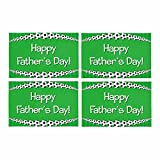 InterestPrint Soccer Theme Father'S Day Card Placemat Table Mats Set of 4, Heat Resistant Place Mat for Dining Table Restaurant Home Kitchen Decor 12''x18''
