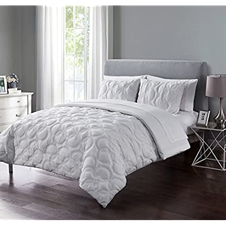 Atoll Embossed 5 Piece Bed In A Bag Comforter Set Twin