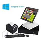 #10: ZHONGJI All In One Retail Bundle Cash Register Point Of Sale Pos System includesAP-1500C Touch Screen PC, Windows10 Pro OS, Thermal Receipt Printer, Steel Cash Drawer(AP-1500C-SET01)