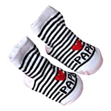 Mysky Fashion Popular Baby Infant Cute Love Mama Papa Letter Comfortable Indoor Slip-Resistant Floor Cotton Socks Gray