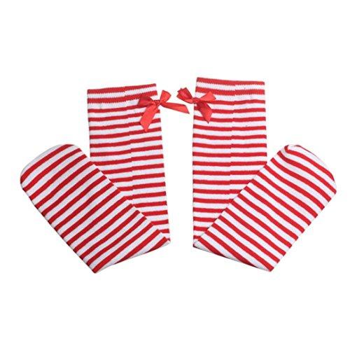 4 Pairs Baby Girls Leg Warmers Bowknot Cotton Stockings Socks - 3