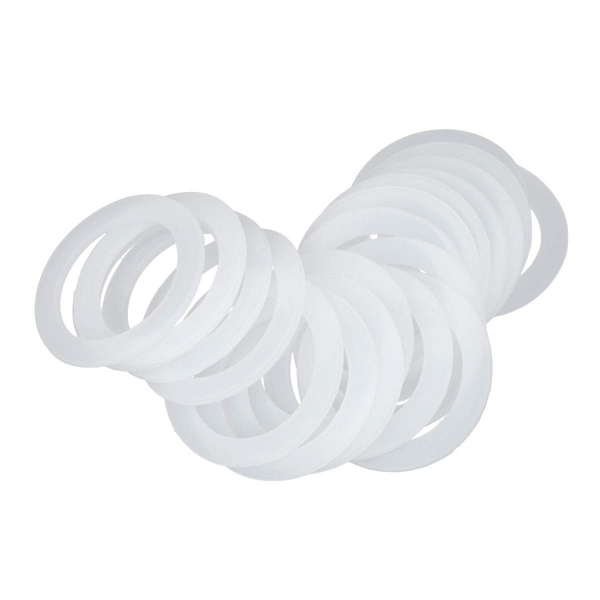YiZYiF 20Pcs Reusable Leak Proof Silicone Sealing O-Rings Gaskets Replacement for Barrelled Water Cooler Water Jug Water Bottle Caps White One Size