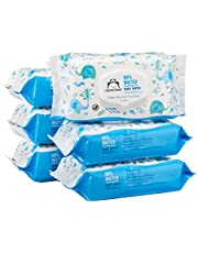 Amazon Brand - Mama Bear 99% Water Baby Wipes, Hypoallergenic, Fragrance Free, 432 Count (6 Packs of 72 Wipes)