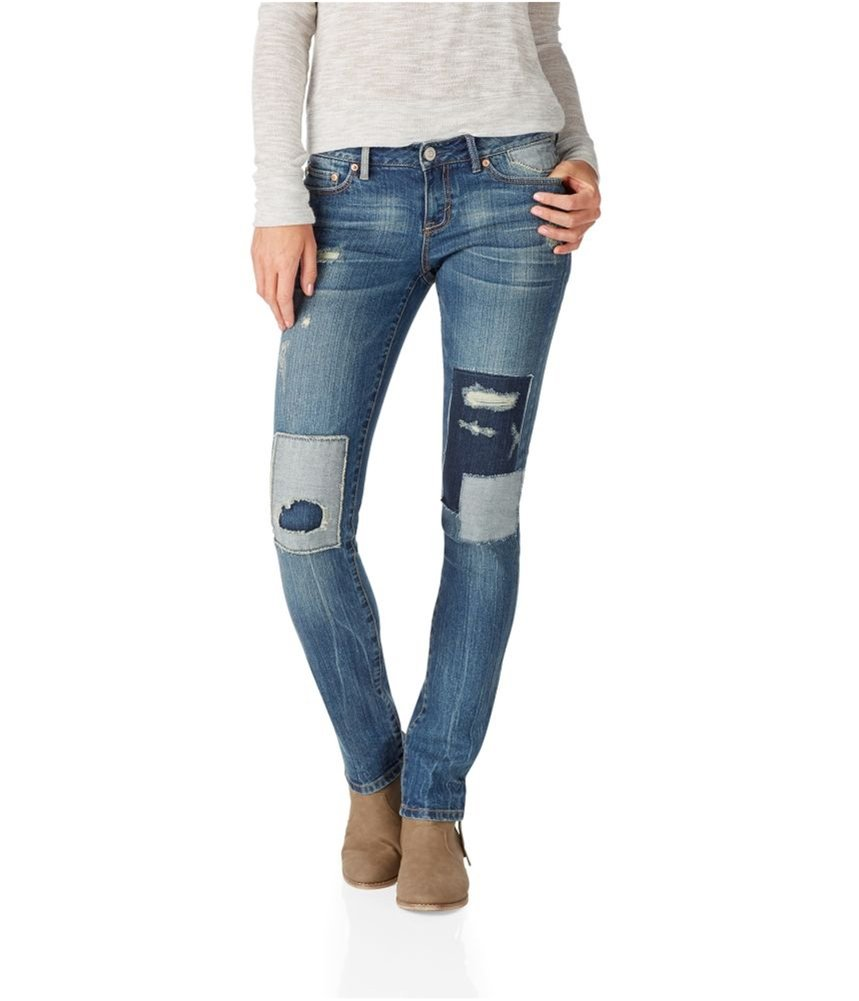 Aeropostale Womens Bayla Regular Skinny Fit Jeans Blue 00x32 - Juniors