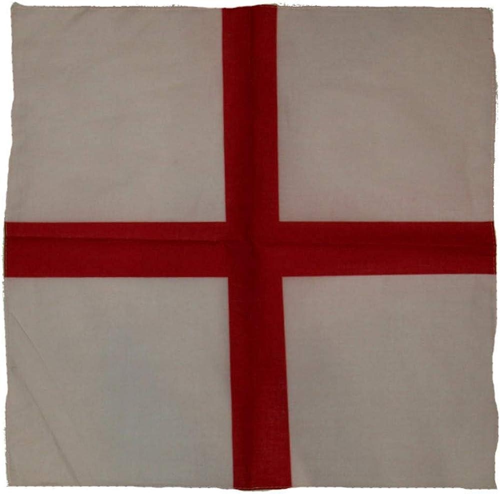 "Wholesale Lot 6 22""x22"" St. Georges Cross Enland English Red Cross Bandana 513EPFpV1-L"