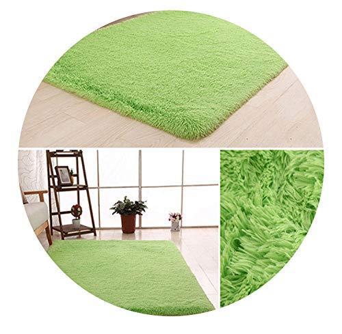 Soft Shaggy Carpet for Living Room,Apple