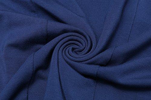 Corta La Manga Sólida Mujeres Fit Ocasional de Casuales Vestido Vestidos marino Cuello HOTOUCH Azul Túnica V Loose XOn0wYxqSH