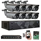 GW Security AutoFocus IP Camera System, 8 Channel H.265 4K NVR, 8 x 5MP HD 1920P Bullet POE Security Camera 4X Optical Motorized Zoom Outdoor Indoor Review