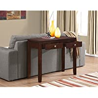 WYNDENHALL Essex Coffee Brown Console Living Room Sofa Table