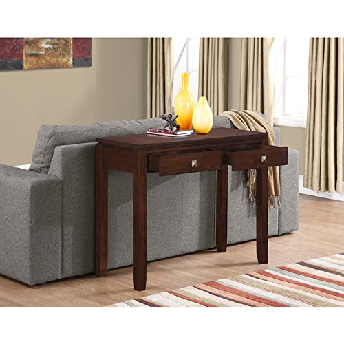 WYNDENHALL Essex Coffee Brown Console Living Room Sofa (Essex Coffee Table)