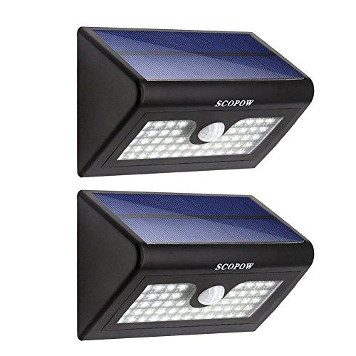 Solar Light, SCOPOW 50 LED Weatherproof Solar Powered Wall Light Wireless Motion Sensor Security Light with...