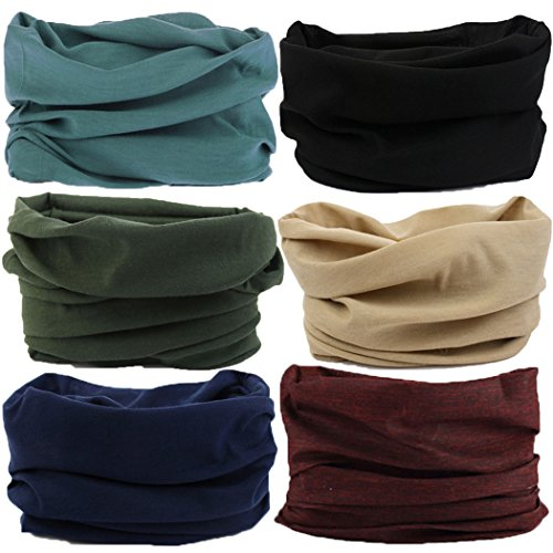 Headwear,Head Wrap, Neck Gaiter, Heaaband, Fishing Mask, Magic Scarf, Tube Mask, Face Bandana Mask, Neck Balaclava and Sport Scarf 12 in 1 Headband Sweatband for Fishing, Hiking, Running, Motorcycling ()