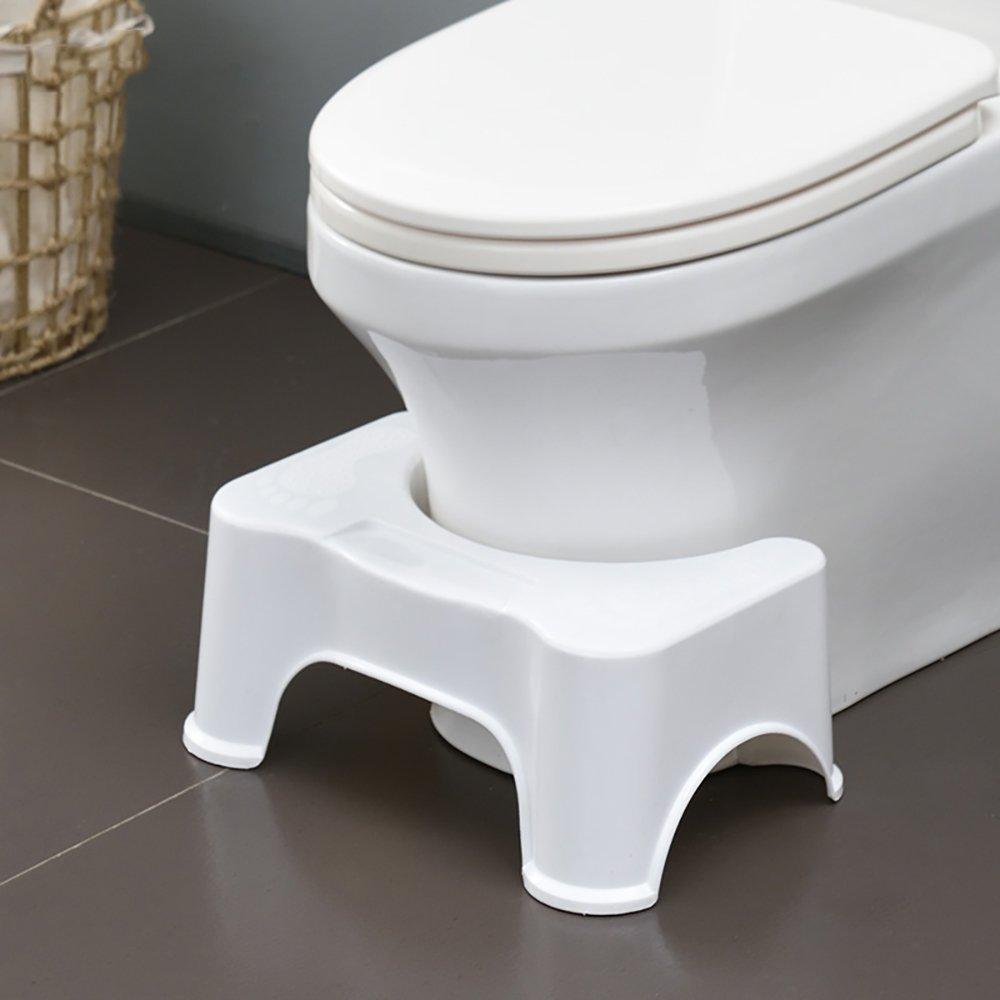Toilet Stool Toilet Stool Stepping Stool Thicken Adult Children's Foot Stepping Stool Elderly Pregnant Woman Bathroom Slip Stool Foot Stool Nursery Stool Green/pink/white 402318cm (Color : White)