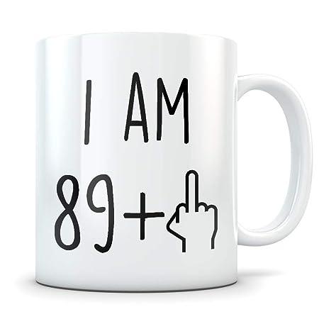 Divertido regalo de cumpleaños 90, taza de cumpleaños 90 ...