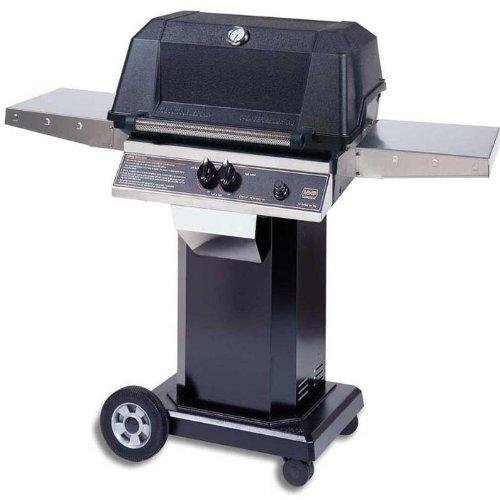 Mhp Gas Grills Wnk4dd Propane Gas Grill W/ Searmagic Grids On Black Cart