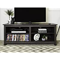 New 58' Modern TV Stand Console in Charcoal Finish