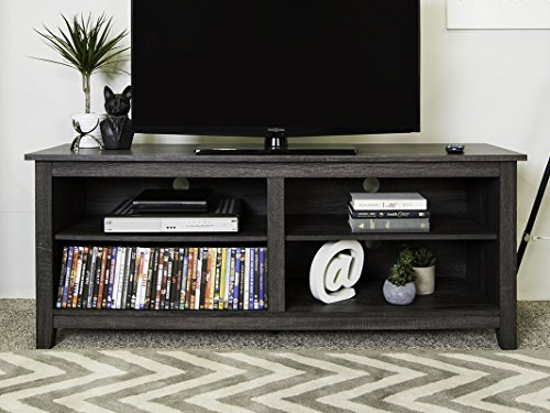 """New 58"""" Modern TV Stand Console in Charcoal Finish"""