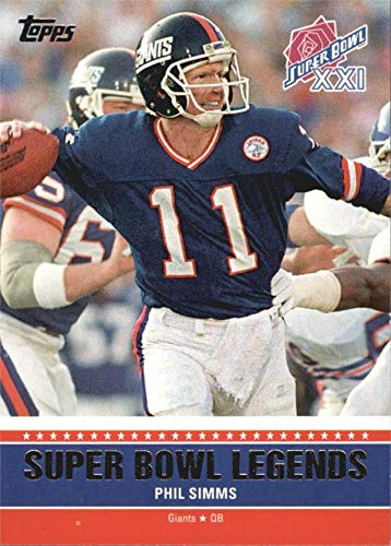 Phil Simms Football Card (New York Giants, QB) 2011 Topps Super Bowl XXI Legends #SBLXXI ()