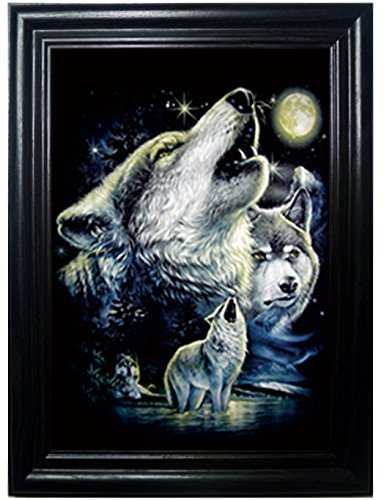 WOLF PACK FRAMED Wall Art-Lenticular Technology Causes The Artwork To Flip-MULTIPLE PICTURES IN ONE-HOLOGRAM Type Images Change--MESMERIZING HOLOGRAPHIC Optical Illusions By THOSE FLIPPING PICTURES ()