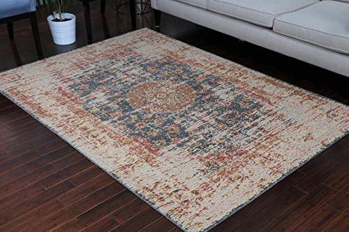 - RUSTIC Collection Antique Style Wool Exposed Cotton and Jute Oriental Carpet Area Rug Rugs Charcol Rust Beige 7008 Black 5x7 6x8 5'2x7'4