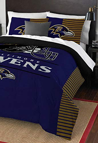 Northwest NFL Baltimore Ravens Draft Full/Queen Bedding Comforter Set