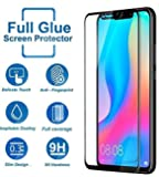 Blaspheme™ Tempered Glass Protector 6D - Full HD, 9H Shatterproof, Anti Scratch Screen Guard for Huawei nova 3i - Black Color (1 Pack, Transparent)