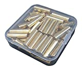1/4-Inch Straight Rod Shelf Rests 60Piece Set, Furniture Cabinet Closet Shelf Pins, Dowel Pins in Storage Box, 60-Pack (Brass)