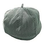 ACVIP Women's Plaid Pattern Floppy Painter's Beret Cap (Green)