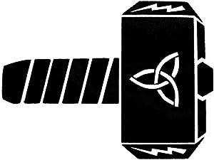 CCI Hammer of Thor Avengers Decal Vinyl Sticker|Cars Trucks Vans Walls Laptop| Black |5.5 x 4.25 in|CCI1611