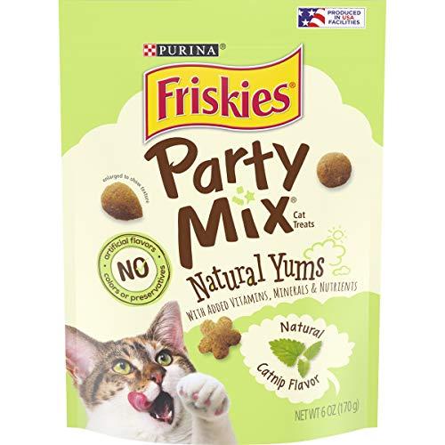 Purina Friskies Party Mix Naturals Adult Cat Treats – (6) 6 oz. Pouches