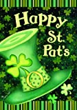 Cheap Happy St Pats Leprechaun Hat Shamrock St Patricks House Flag 28 x 40