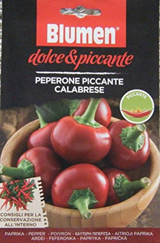Hot Italian Pepper (Blumen Authentic Italian Pepper Seeds hot Pepper Seed calabrian rp ⣠3.99)