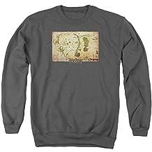 The Hobbit Desolation of Smaug Movie Middle Earth Map Adult Crewneck Sweatshirt