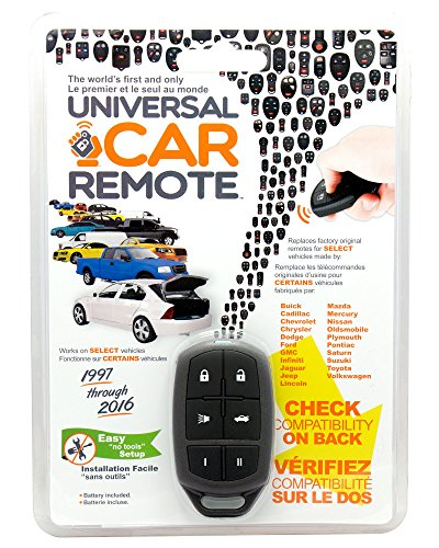 Replacement Keyless Entry Universal Car Remote Control by iKeyless - Key Fob Clicker for Chevy, Dodge, Ford, Nissan, Toyota and more