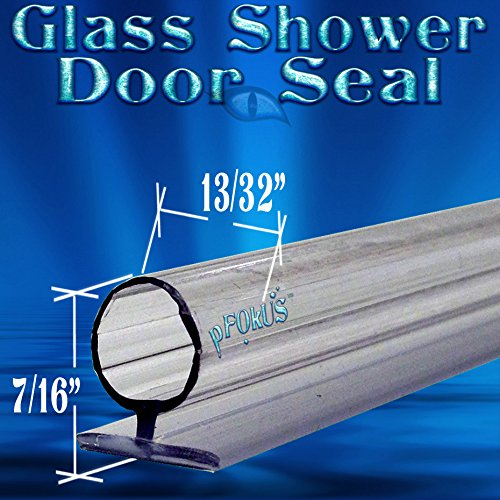 DS106 7/16 Tall Bubble Seal Frameless Glass Shower Door Seal, Wipe, Sweep- 98'' Long - Spend over $50 with pFOkUS and get FREE SHIPPING by pFokus