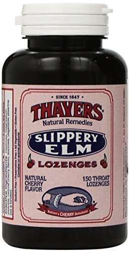 Slippery Cherry Elm - Thayers Slippery Elm Lozenges, Cherry, 150 Count