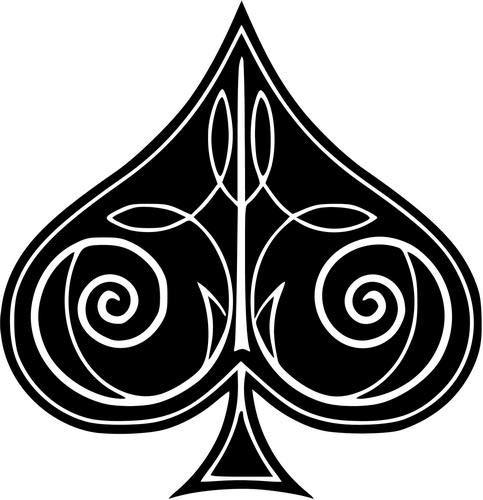 (Mandy Graphics Ace Spade Card Casino Gambling Vinyl Die Cut Decal Sticker for Car Truck Motorcycle Windows Bumper Wall Home Office Decor Size- [6 inch/15 cm] Tall and Color- Gloss White)