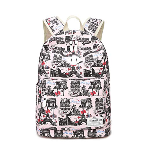 Cute Cat Print School Bag For Teenage Orthopedic Rucksack -