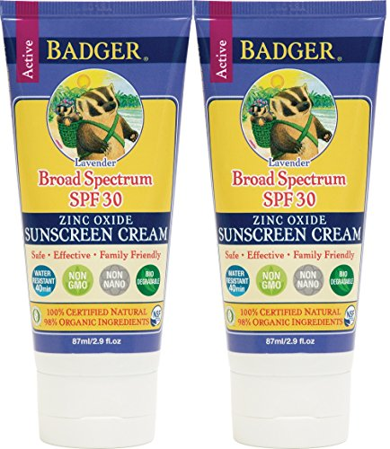 Balm Lavender - Badger Balm Lavender Sunscreen Cream- SPF 30-2.9 oz (2 Pack)
