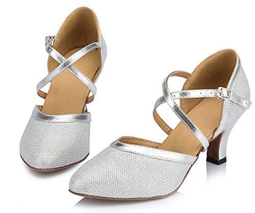 TDA - Zapatos de tacón  mujer 6cm Heel Silver