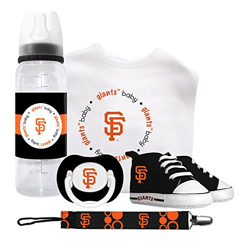MLB San Francisco Baby Gift Set (Newborn, 5 Piece Gift Set B)