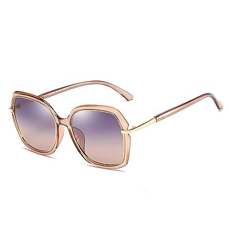 L.L.QYL Gafas TAC Gafas de Sol polarizadas para Mujer Retro ...