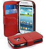 Cadorabo ! Etui Housse Coque en simili-cuir Book Style pour Samsung Galaxy S3 MINI I8190 in rouge